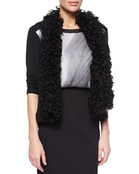 Elie Tahari Brooke Curly Shearling Fur Vest