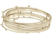 Kendra Scott Tatum Bangle Bracelet Set Gold White Cz Bracelet