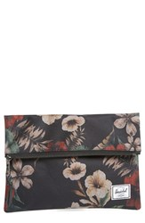 Herschel Supply Co. 'Small Carter' Foldover Pouch Black Hawaiian Camo