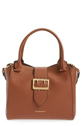 Burberry 'Medium Buckle' Leather Satchel Brown Bright Toffee