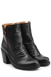 Fiorentini Baker And Leather Ankle Boots With Zip Black