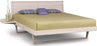 Copeland Furniture Contour Bed With One Shelf Nightstand