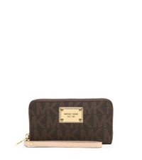Michael Kors Jet Set Logo Large Phone Case For Iphone And Samsung Brown