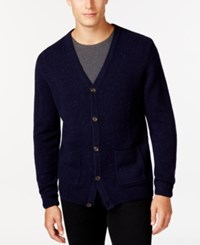 Tasso Elba Big And Tall V Neck Cardigan Only At Macy's Night Neps