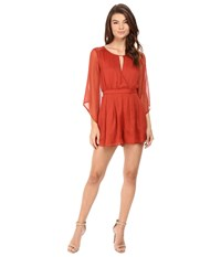 The Jetset Diaries Ara Romper Rust Women's Jumpsuit And Rompers One Piece Red