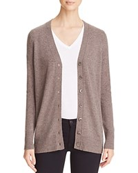 Bloomingdale's C By Grandfather Cashmere Cardigan Heather Rye