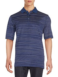 Bugatchi Abstract Print Polo Shirt Midnight