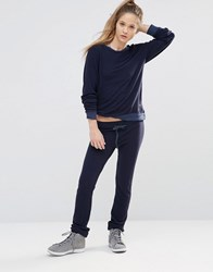 Wildfox Couture Essentials Malibu Skinny Sweats Oxford Navy