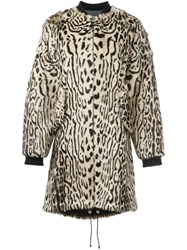 Giambattista Valli Animal Print Coat Nude And Neutrals