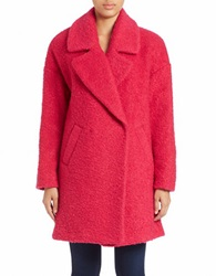 Betsey Johnson Collared Boucle Jacket Pink
