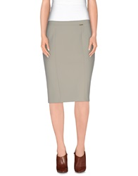 Blumarine Knee Length Skirts Light Grey