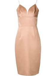 Christian Siriano Sweetheart Neck Fitted Dress Nude And Neutrals