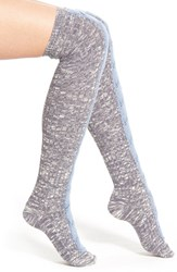 Women's Lemon 'Sassy Runway' Over The Knee Socks Grey