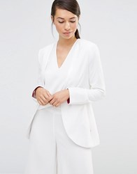 Lavand Soft Open Blazer White