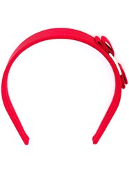 Salvatore Ferragamo 'Vara' Headband Red