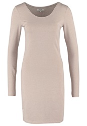 Zalando Essentials Jersey Dress Beige Mottled Beige