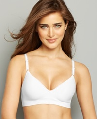 Hanes Platinum Smooth Inside And Out Foam Wireless Bra Hp05 White