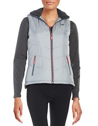 New Balance Quilted Puffer Vest Silver Mint