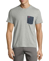 Printed Pocket Cotton Tee Gray