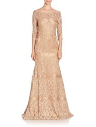 Jovani Fit And Flare Embroidered Gown Gold