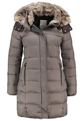 Esprit Down Coat Brown Grey Taupe