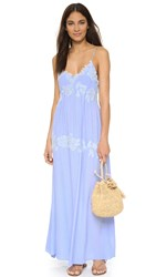 Shakuhachi Lacey Embroidered Maxi Dress Light Blue