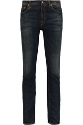 R 13 High Rise Skinny Jeans Blue