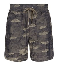 Helmut Lang Camouflage Patch Pocket Shorts Male Khaki