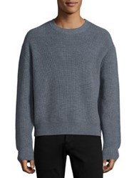 3.1 Phillip Lim Cropped Boxy Wool Blend Sweater Grey