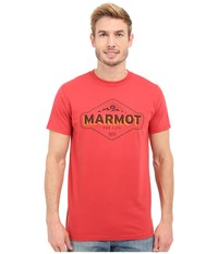 Marmot Trinity Short Sleeve Tee Cardinal Men's T Shirt Red