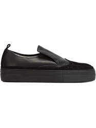 Ad Ann Demeulemeester Brogue Detail Slip On Sneakers Black