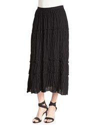 Elizabeth And James Crue Tiered Midi Skirt Black