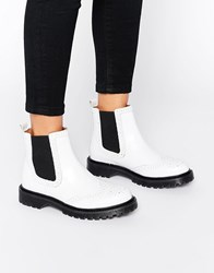 Bronx Chunky Flat Boots Off White