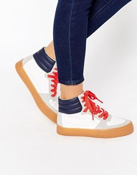 Asos Duke Lace Up High Top Trainers Multi