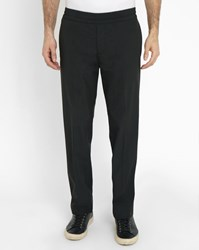 Acne Studios Black Ryder Wool Flannel Trousers