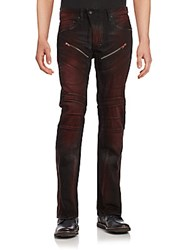 Prps Regular Fit Low Front Rise Jeans Red