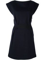 Vanessa Bruno Pleated Detail Sleeveless Dress Blue