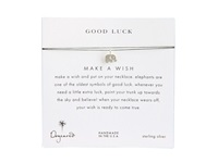Dogeared Make A Wish Luck Elephant Necklace Evergreen Silver Necklace White