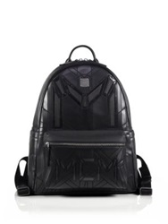 Mcm Bionic Medium Faux Leather Backpack Black
