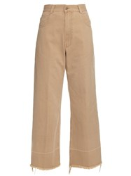 Rachel Comey Wide Leg Cotton Twill Cropped Chino Trousers