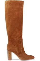 Gianvito Rossi Suede Knee Boots Brown