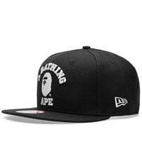A Bathing Ape New Era College Snapback Black