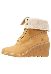 Timberland Amston Wedge Boots Wheat Camel