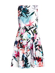 Wallis Floral Print Prom Dress Multi Coloured