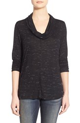 Women's Olivia Moon Cowl Neck A Line Top Black