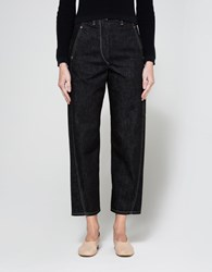 Christophe Lemaire Twisted Pants In Dark Indigo