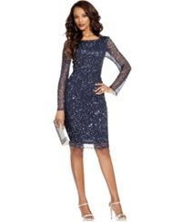 Patra Petite Dress Long Sleeve Beaded Sequin