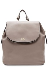 Karl Lagerfeld K Grainy Leather Backpack Brown