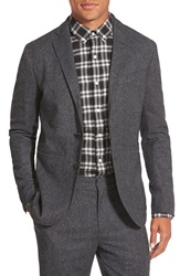 Bespoken 'Stealth' Two Button Sport Coat Black Tweed