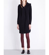 Theory Edoran Wool And Cashmere Blend Hooded Cardigan Black